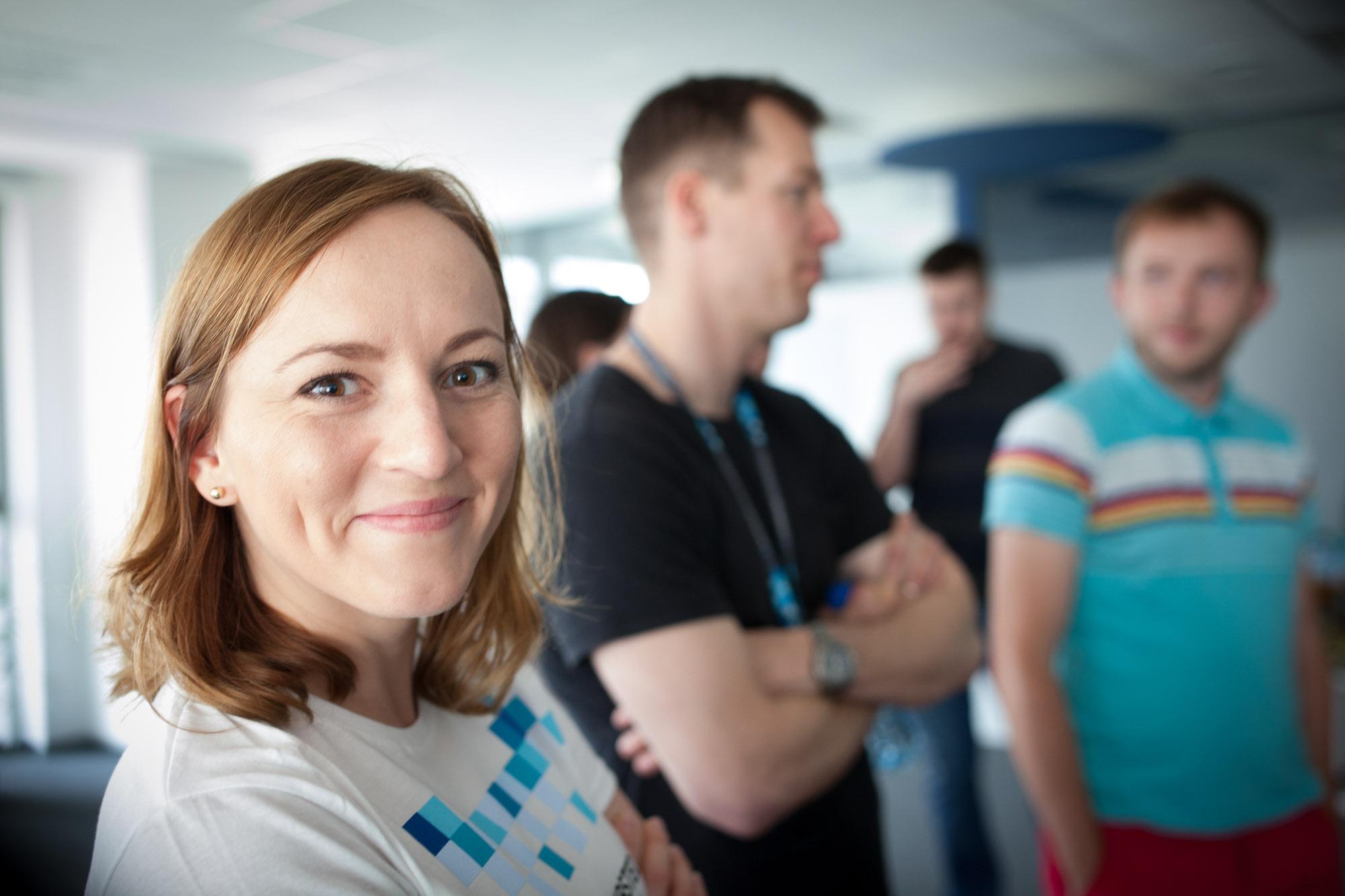 HR Business Partner Aleksandra Grzybowska welcomed the developers to Schibsted Tech Polska´s office