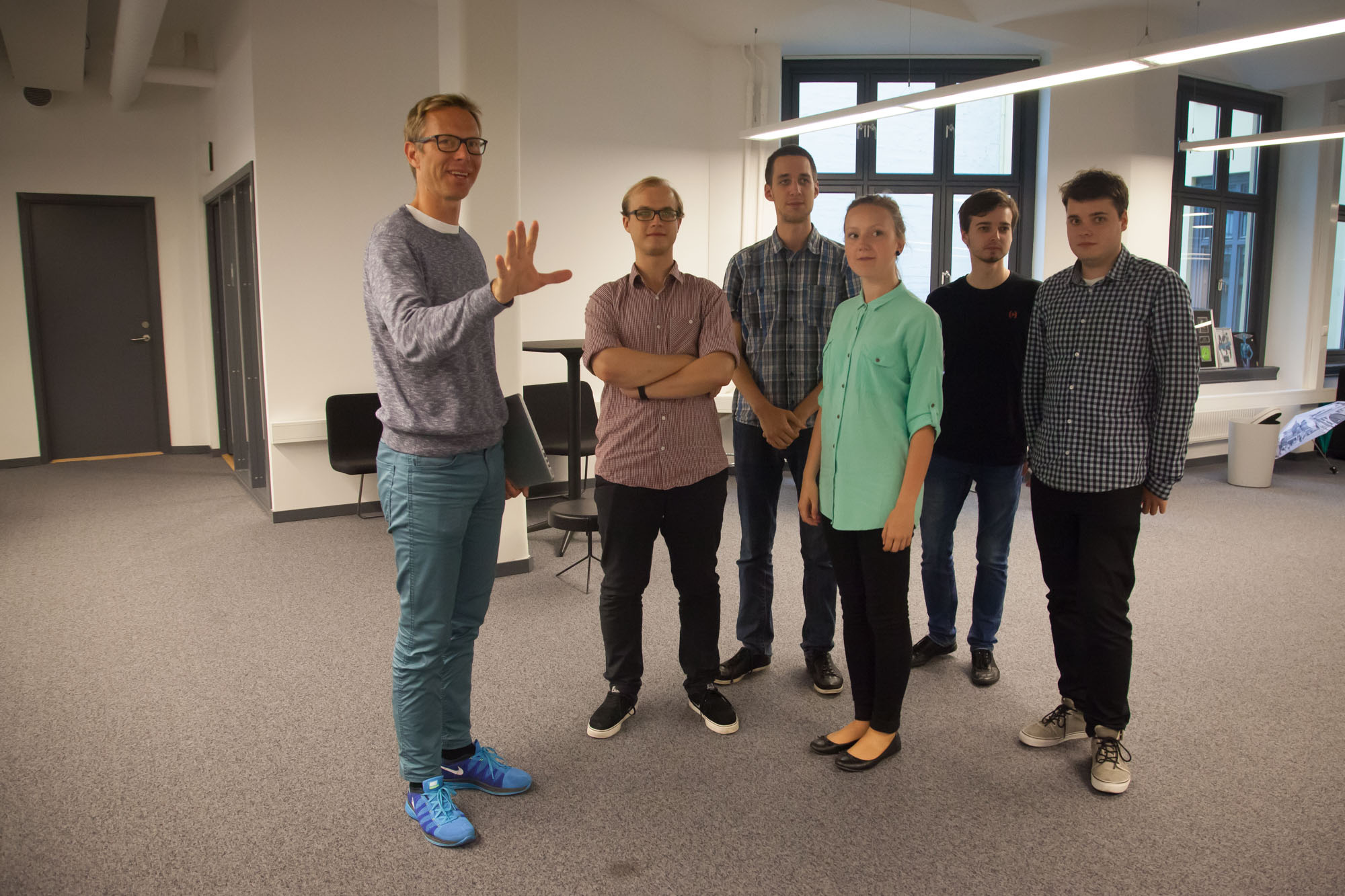 Head of Client Development Pål Berg showed the summer interns the Oslo offices of the streaming music service Tidal