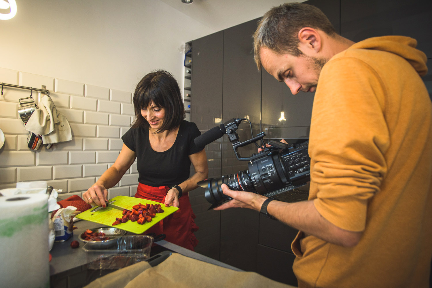 Ad traffic engineer Agnieszka Lasyk shows her baking skills in the video.