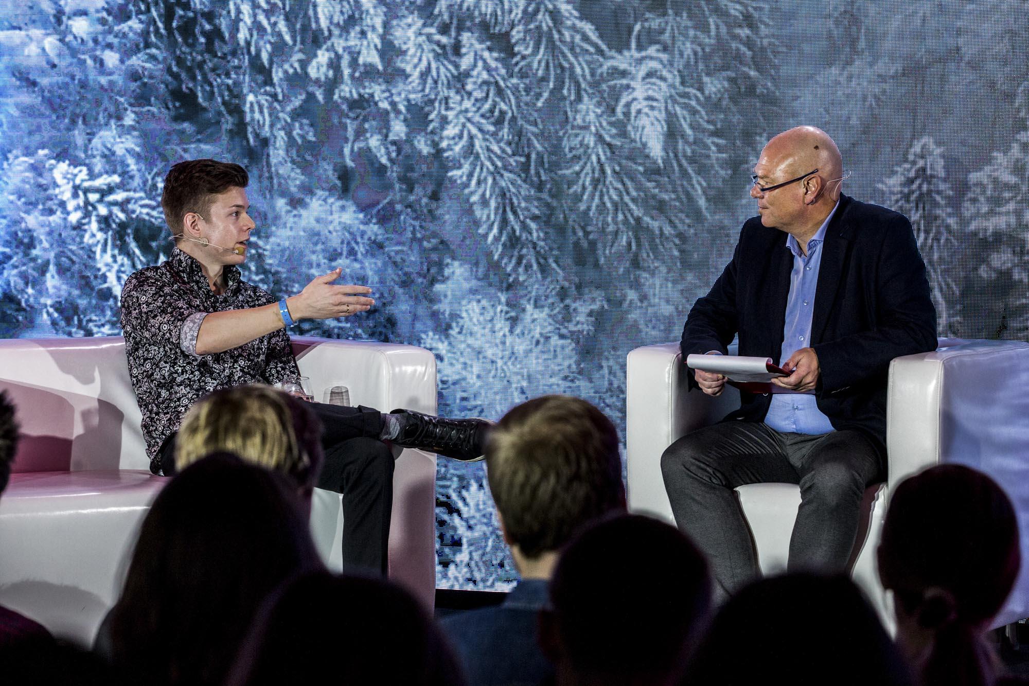 Einar Otto Stangvik talks to host John Einar Sandvand about data security