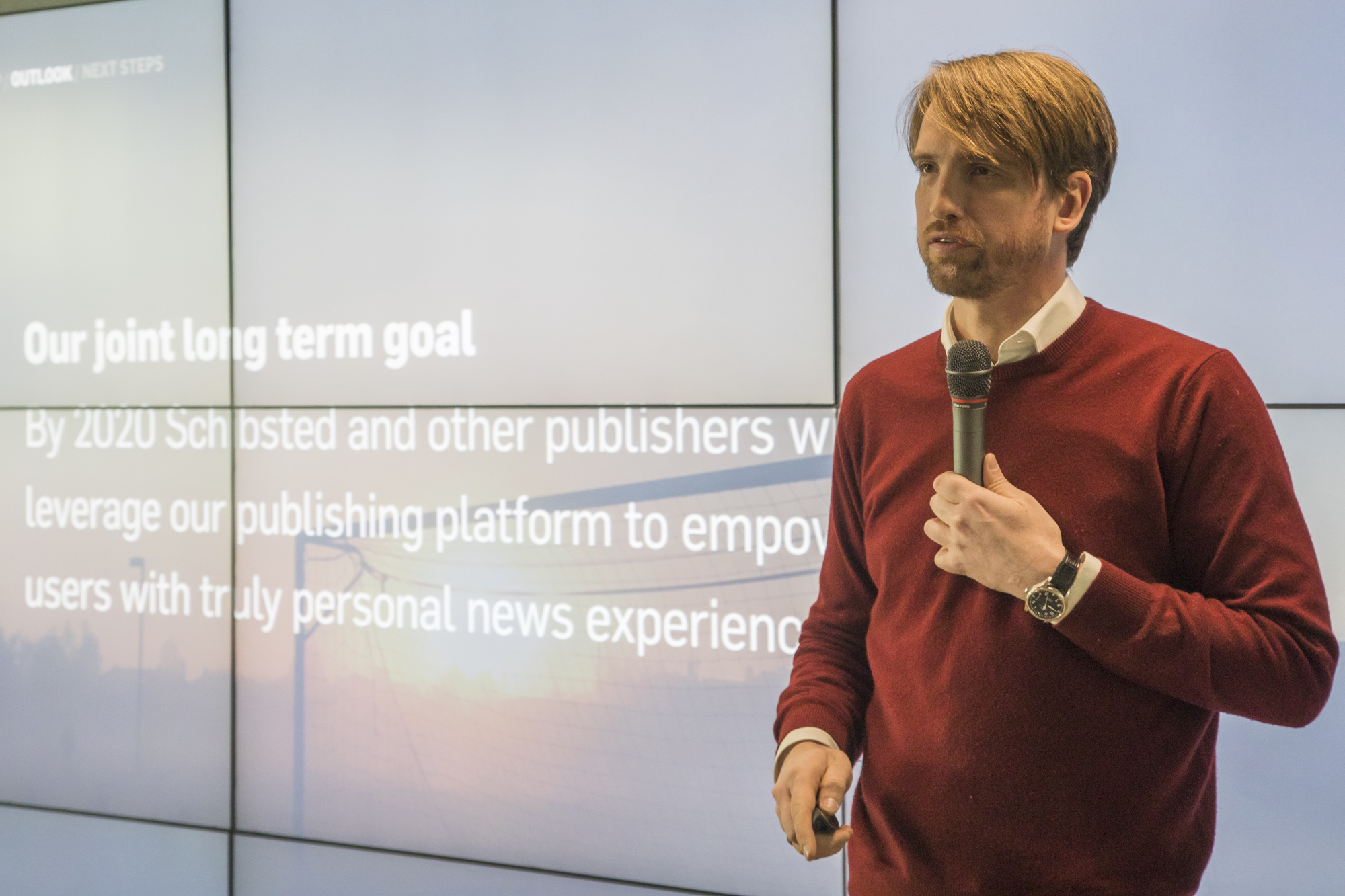 VP Product for Schibsted Publishing Platform, Ian Vännman, presents the ambitious plans for the software engineers in Schibsted Tech Polska