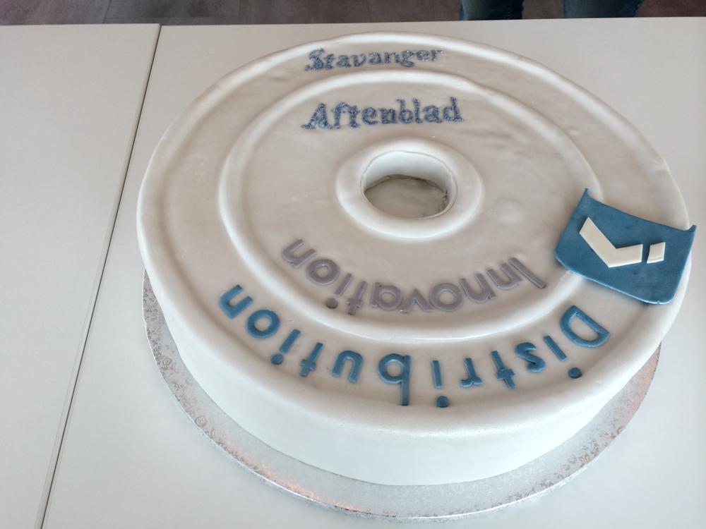 Integration cake for Distribution Innovation and Stavanger Aftenblad
