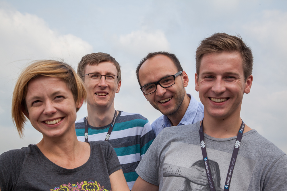 The Fevennen team in Schibsted Tech Polska (from left): Anna Danielewska-Tulecka, Lukasz Zak, Rafal Kanski and Jakub Garczynski
