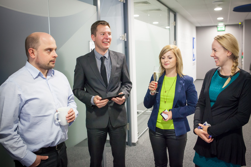 Site manager Tomasz Zarzeczny (number two from the left) was hosting the opening reception