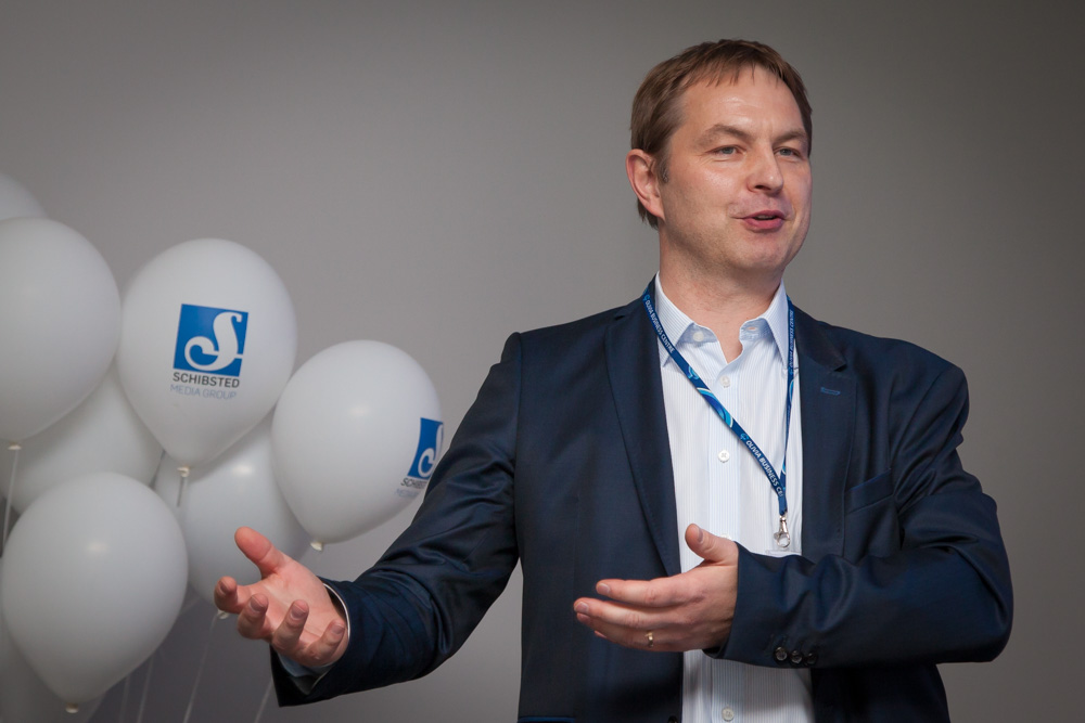 Maciej Grabski from Olivia Business Center welcomes Schibsted Tech Polska to Gdansk.
