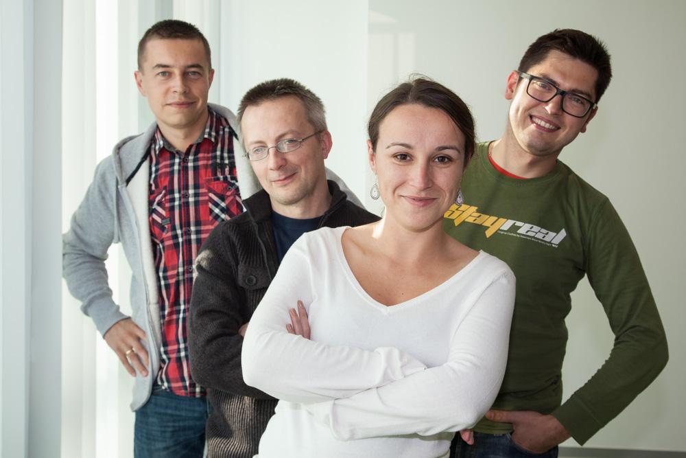 Part of the SND Editorial team (from left): Przemysław Kuliga, Tomasz Zakrzewski, Ewa Boryło and  Przemysław Godyń.