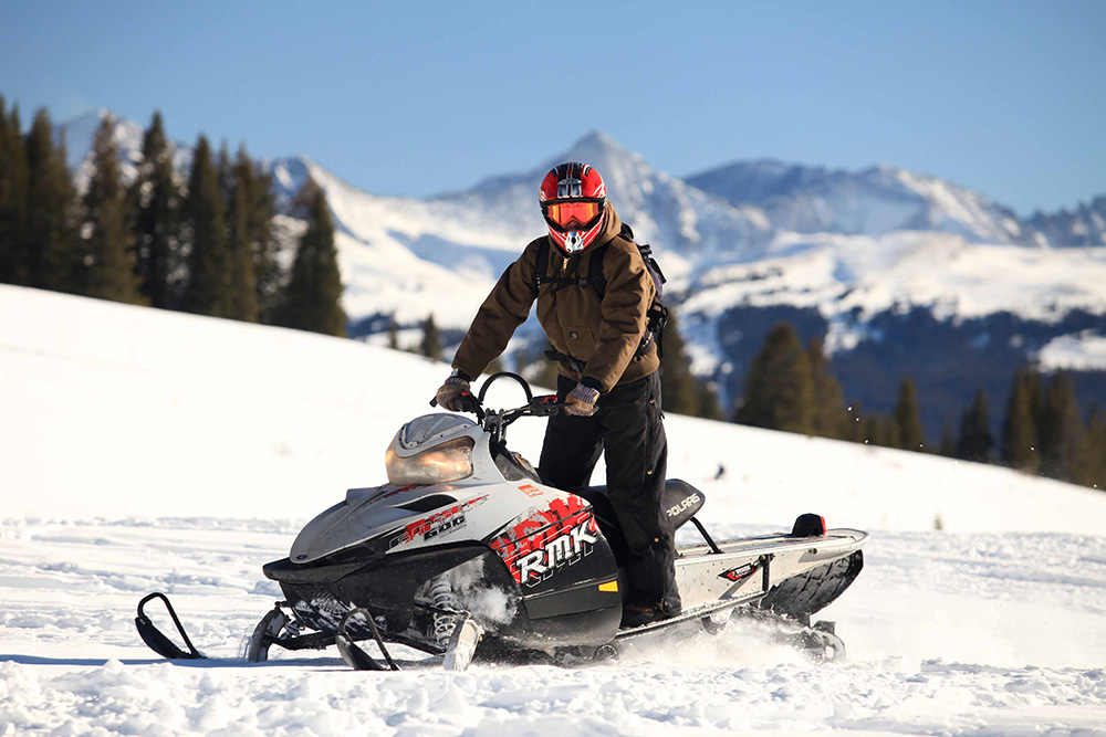 Snowmobiles is another activity during the Schibsted Tech Polska Winter Event