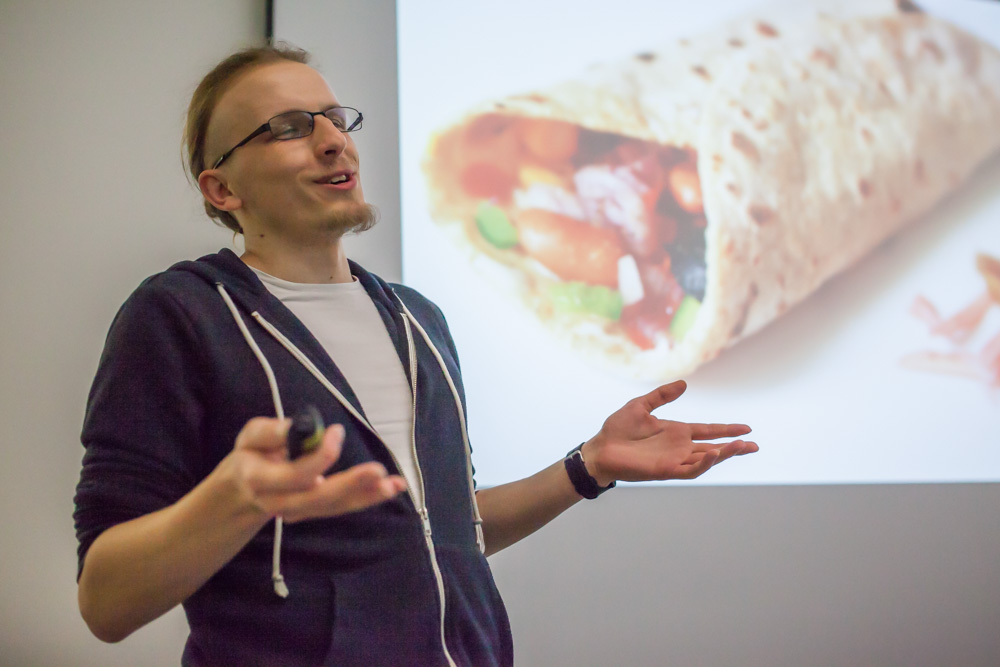 Gabriel Habryn uses a burrito as metaphor when talking about how his team developed a CRM solution.