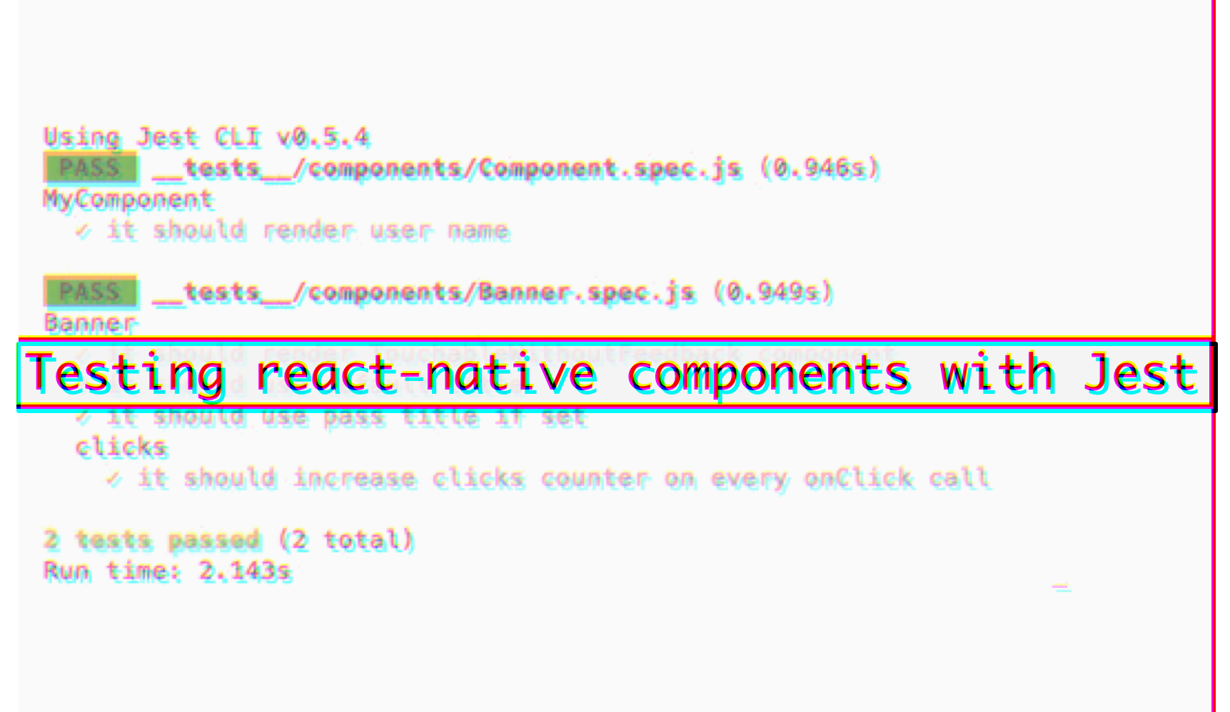 Testing react-native components with Jest