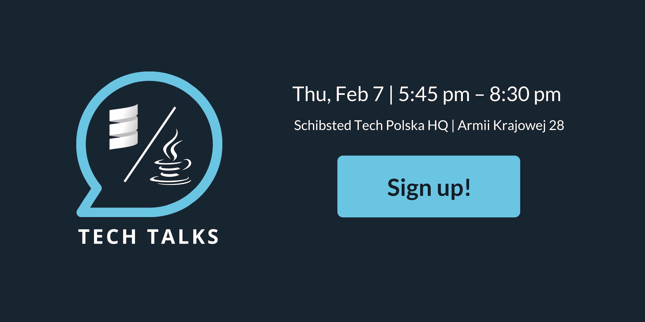 Sign up Tech Talks